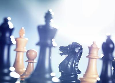 Chess Match Print by Tek Image
