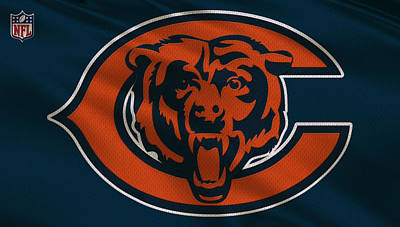 Uniforms Photograph - Chicago Bears Uniform by Joe Hamilton