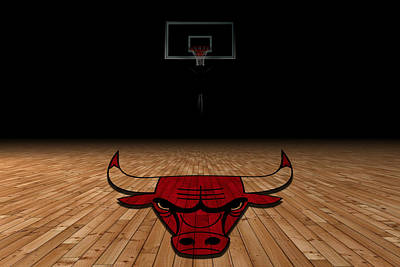 Chicago Bulls Print by Joe Hamilton
