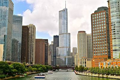 Chicago River View Print by Frozen in Time Fine Art Photography