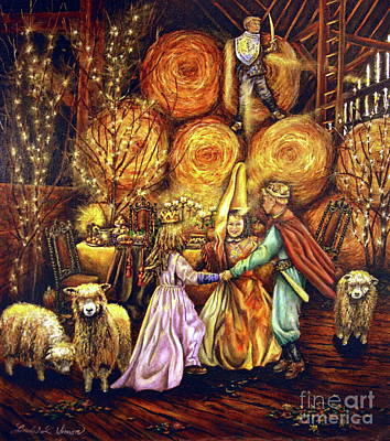 Fantasy Painting - Children's Enchantment by Linda Simon