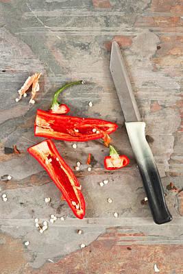 Chilli Photograph - Chilli Pepper by Tom Gowanlock