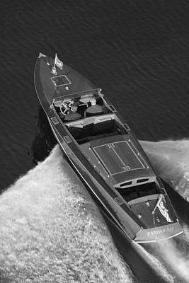 Chris Craft Aerial Print by Steven Lapkin