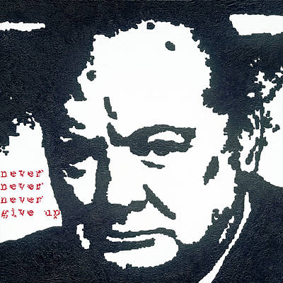 Churchill Print by Barry Novis
