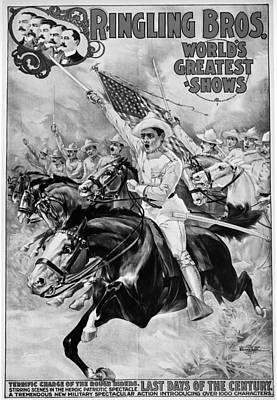 Patriotic Painting - Circus Poster, 1899 by Granger