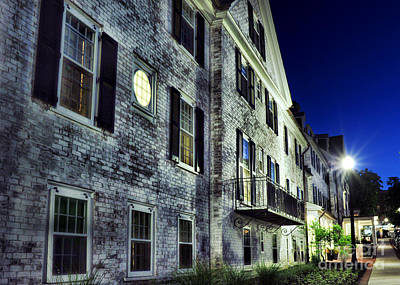 Brick Buildings Photograph - City Scene At Night by HD Connelly