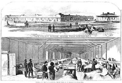 Civil War Hospital Print by Granger