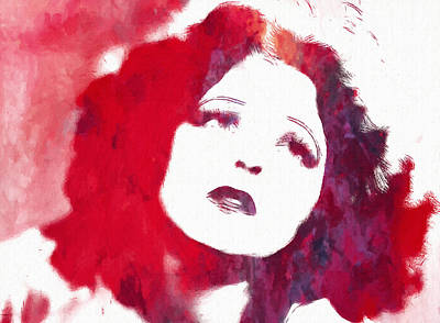 Sex Symbol Mixed Media - Clara Bow by Steve K
