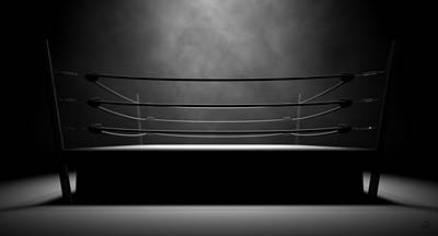 Stage Digital Art - Classic Vintage Boxing Ring by Allan Swart