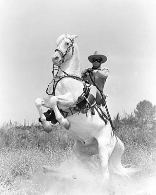 Clayton Moore In The Lone Ranger Print by Silver Screen