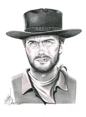 Clint Eastwood Print by Murphy Elliott