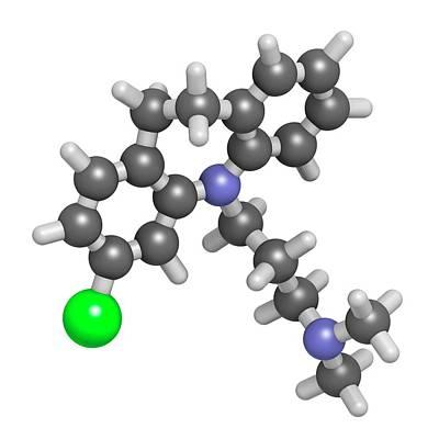 Antidepressant Photograph - Clomipramine Tricyclic Antidepressant by Molekuul