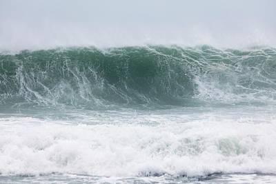Coastal Wave During Typhoon Usagi Print by Jim Edds