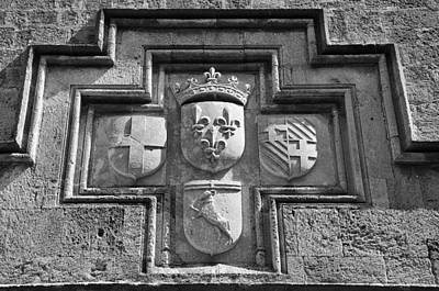 Coat Of Arms At The Street Of Knights Print by George Atsametakis
