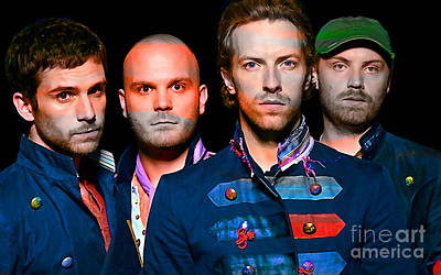 Coldplay Print by Marvin Blaine