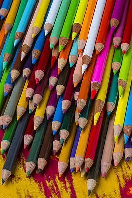 Colored Pencil Photograph - Colored Pencils  by Garry Gay