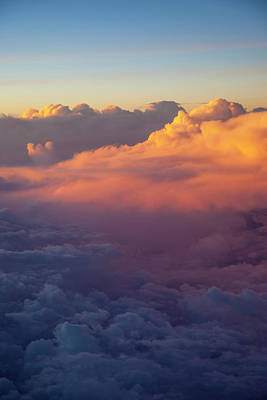 Colorful Clouds At Sunset Viewed Print by Brian Jannsen