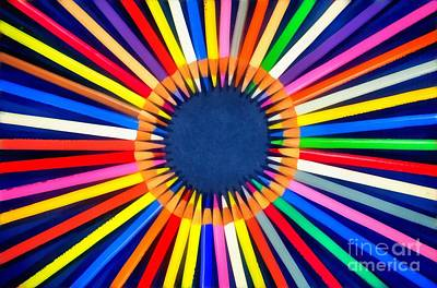 Pencil Painting - Colorful Pencils by George Atsametakis