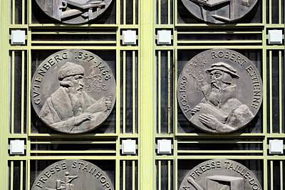Medallion Photograph - Commemorative Printing Medallions by Chris Hellier