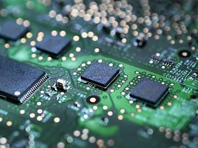 Circuit Photograph - Computer Hardware by Tek Image