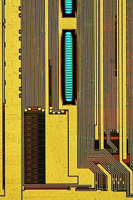 Component Photograph - Computer Ram Module by Antonio Romero