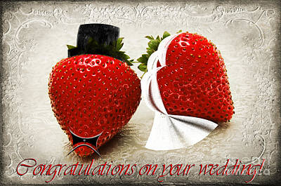 Food Photograph - Congratulations On Your Wedding by Andee Design