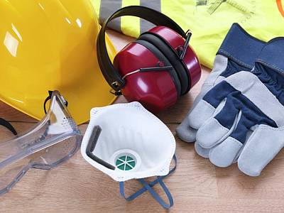 Vest Photograph - Construction Safety Equipment by Tek Image