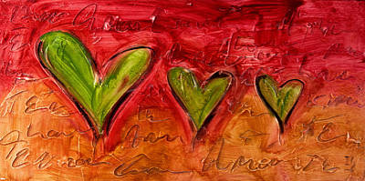 Christian Artwork Painting - Contemporary Heart Painting by Ivan Guaderrama