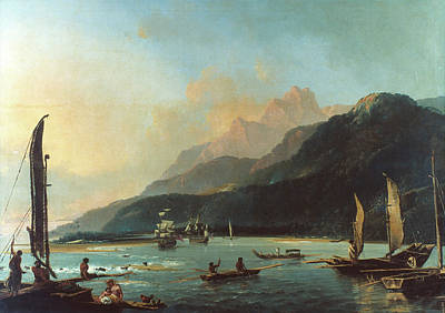 Resolution Painting - Cook Tahiti, 1773 by Granger