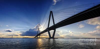 Cooper River Bridge Charleston Sc Print by Dustin K Ryan