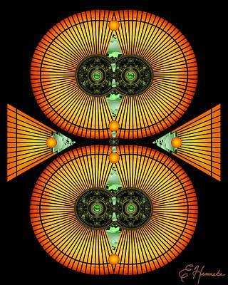 Division Digital Art - Cosmic Mitosis by Ellen Henneke