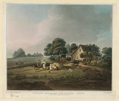 Cottage Scene Print by British Library