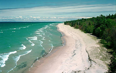Crisp Point Beach Print by James Rasmusson