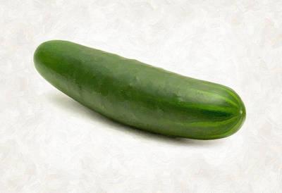 Cucumber Print by Danny Smythe