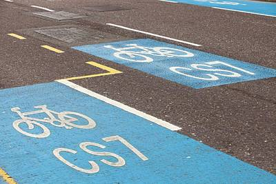 Cycle Superhighway Print by Ashley Cooper