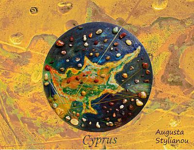 Chart Mixed Media - Cyprus  by Augusta Stylianou