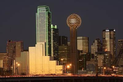 Dallas Skyline Photograph - Dallas Skyline by Christian Heeb