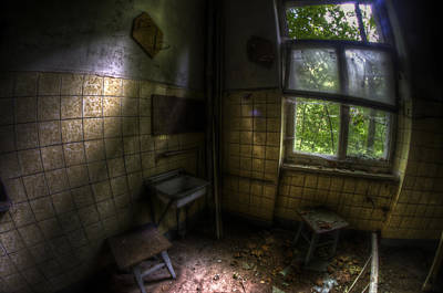 Dilapidated Digital Art - Dark Kitchen  by Nathan Wright