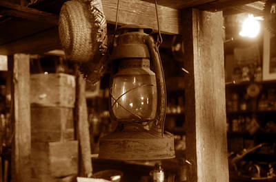 Lamp And Hat Print by David Lee Thompson