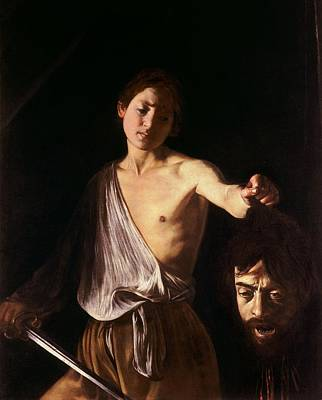 David With The Head Of Goliath Print by Michelangelo Caravaggio
