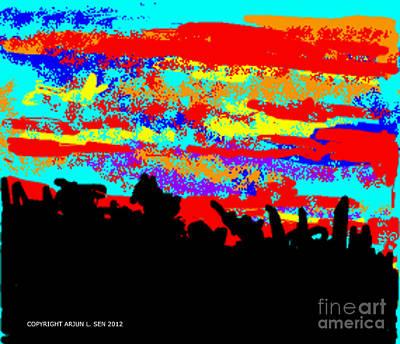 Digital Painting - Dawn El Albanil by Arjun L Sen