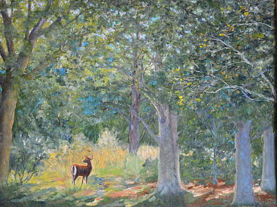 Painting - Deer In The Clearing by Betty McGlamery