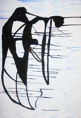 Dinka Wedding Painting - Dinka Motherhood - South Sudan by Gloria Ssali
