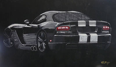 Viper Painting - Dodge Viper by Richard Le Page