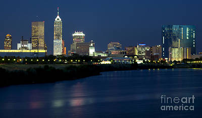 Downtown Indianapolis Indiana Print by Anthony Totah