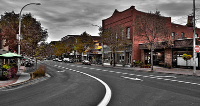 City Streets Photograph - Downtown Pullman Washington by David Patterson