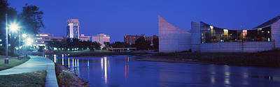 Downtown Wichita Viewed From The Bank Print by Panoramic Images