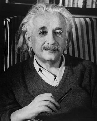 Atom Photograph - Dr. Albert Einstein by Retro Images Archive