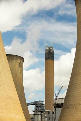 Drax Power Station In Yorkshire Print by Ashley Cooper