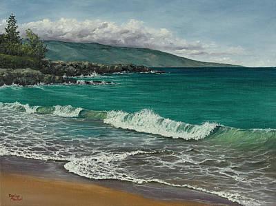 Wet On Wet Painting - Dt Fleming Beach by Darice Machel McGuire